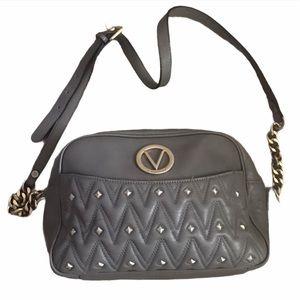 Valentino Gray Leather Crossbody Bag